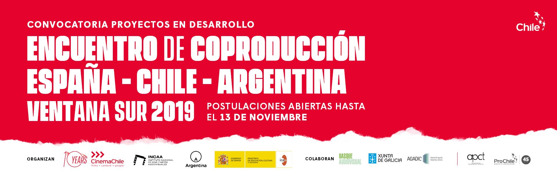 CONVOCATORIA CERRADA //  ENCUENTRO DE COPRODUCCIÓN ENTRE ESPAÑA, CHILE & ARGENTINA EN VENTANA SUR 2019