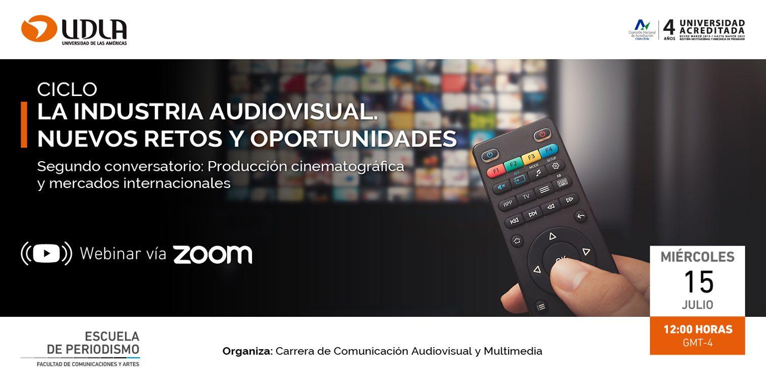 """(Español) Participa en el segundo conversatorio del ciclo """"La industria audiovisual, nuevos retos y oportunidades"""""""